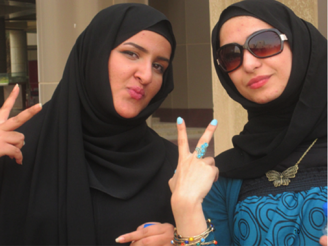 V for the Vote, V for Victory – Students at Kuwaiti University, April 2012